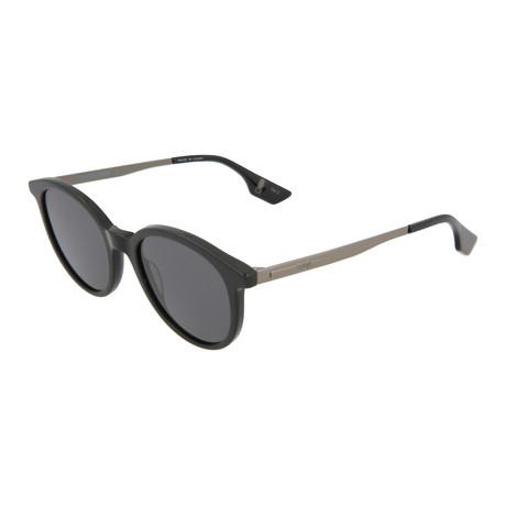 Unisex MQ0069S Round Sunglasses // Black + Ruthenium