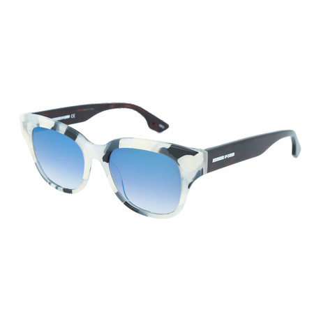 Unisex MQ0067S Square Sunglasses // Black + Havana + Light Blue
