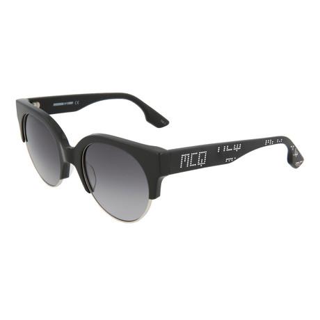 Women's MQ0048S Round Sunglasses // Black + Gray