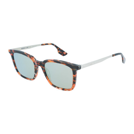 Unisex MQ0070S Square Sunglasses // Havana + Silver