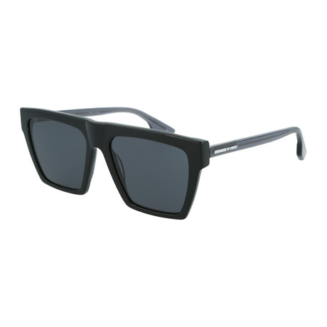 Men's MQ0073S Square Sunglasses // Black + Gray