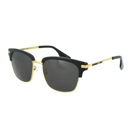 Unisex MQ0057S Square Sunglasses // Black + Gold