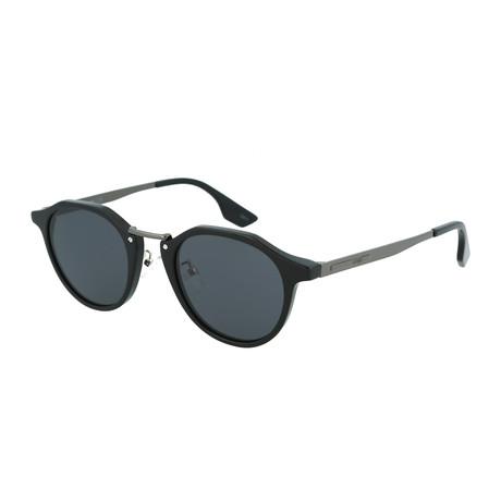 Unisex MQ0036S Round Sunglasses // Black + Ruthenium