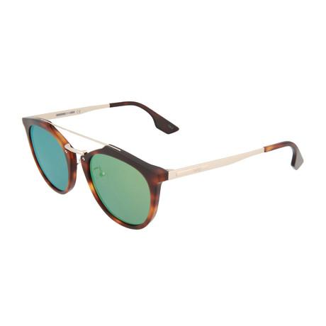 Unisex MQ0037S Round Sunglasses // Havana + Gold + Green