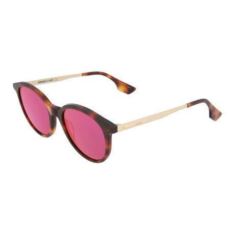 Unisex MQ0069S Round Sunglasses // Havana + Pink