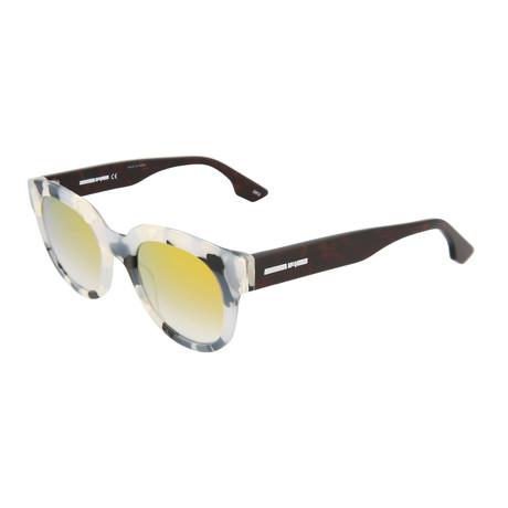 Unisex MQ0068S Round Sunglasses // Black + Havana + Yellow