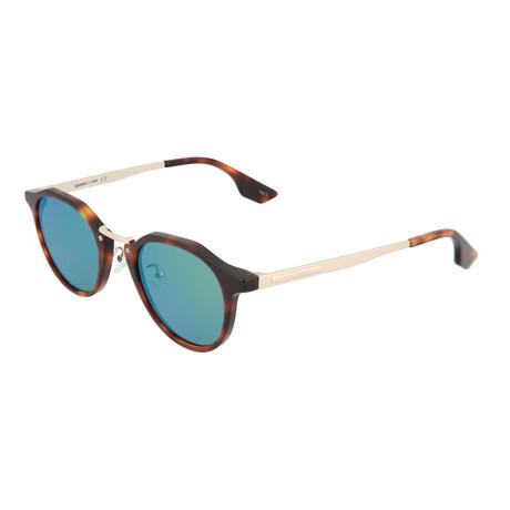 Unisex MQ0036S Round Sunglasses // Havana + Gold + Green
