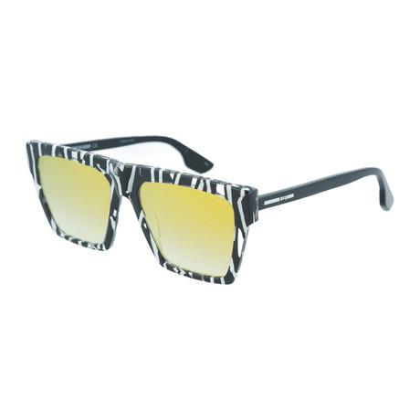 Men's MQ0073S Square Sunglasses // Black + Yellow