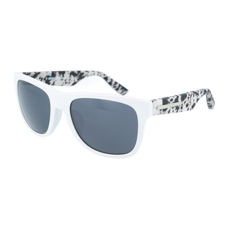 Unisex MQ0018SA Square Sunglasses // White + Black + Gray