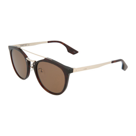 Unisex MQ0037S Round Sunglasses // Havana + Gold