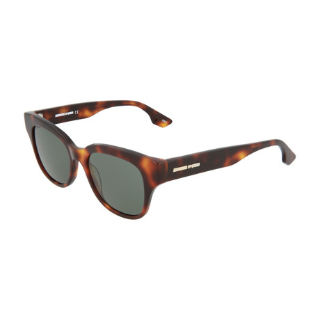 Unisex MQ0067S Square Sunglasses // Havana + Green