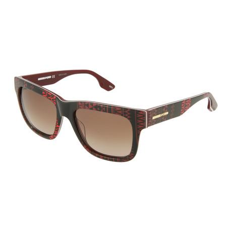 Unisex MQ0044S Square Sunglasses // Brown + Red