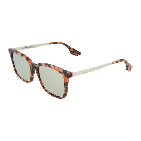 Unisex MQ0070SA Square Sunglasses // Orange Havana + Silver