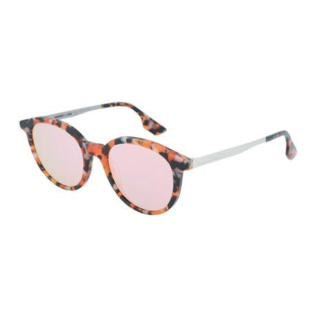 Unisex MQ0069S Round Sunglasses // Havana + Silver + Gold