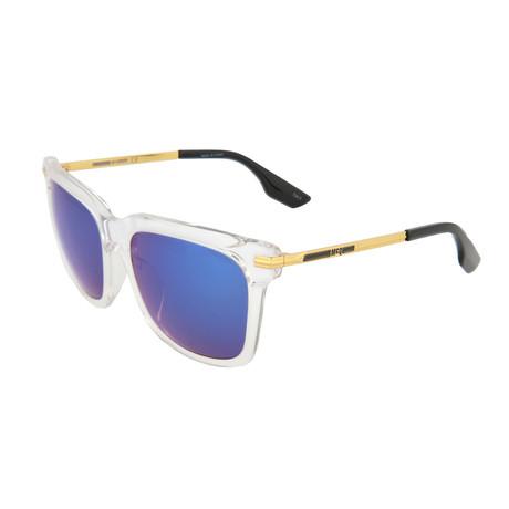 Unisex MQ0055SK Square Sunglasses // Crystal + Gold + Blue