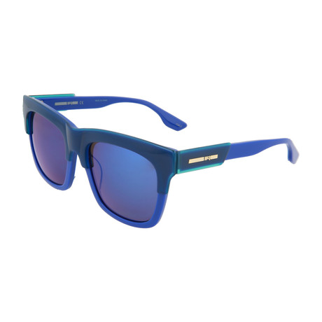 Unisex MQ0053SK Square Sunglasses // Blue