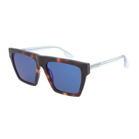 Men's MQ0073S Square Sunglasses // Havana + Crystal