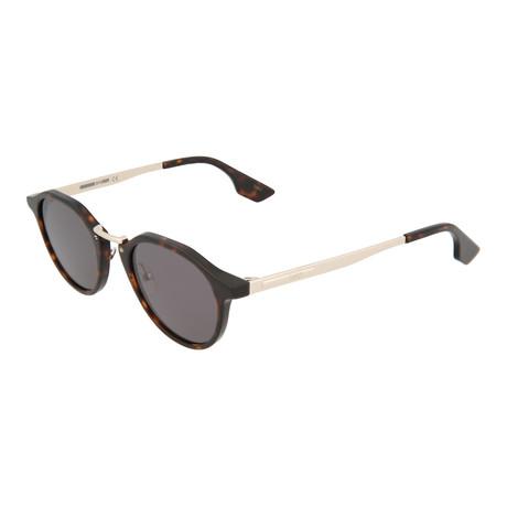 Unisex MQ0036S Round Sunglasses V3 // Havana + Gold