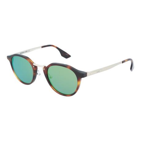 Unisex MQ0036S Round Sunglasses V2 // Havana + Gold