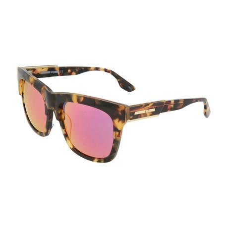 Unisex MQ0053SK Square Sunglasses // Havana + Red