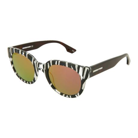 Unisex MQ0068S Round Sunglasses // Black + Havana + Orange