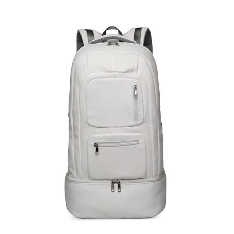 Luxury Travel Bag // Tumbled Leather // White