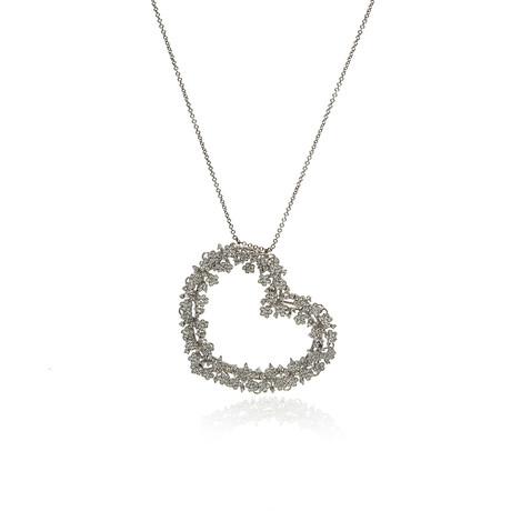 Pasquale Bruni Prato Fiorito 18k White Gold Diamond + Sapphire Necklace // Store Display