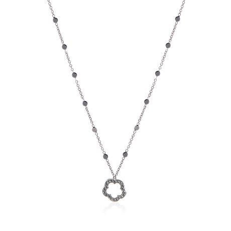Pasquale Bruni Make Love 18k White Gold Diamond Necklace // Store Display