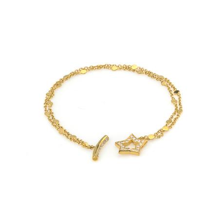 Pasquale Bruni Make Love 18k Yellow Gold Diamond Bracelet // Store Display