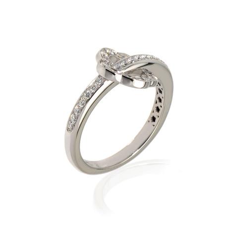 Pasquale Bruni Make Love 18k White Gold Diamond Ring // Store Display (Ring Size: 5.75)