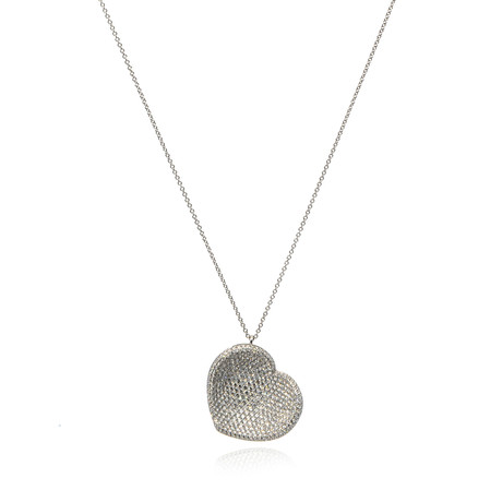 Pasquale Bruni In Love 18k White Gold Diamond + Sapphire Necklace II // Store Display