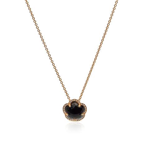 Pasquale Bruni Bon Ton 18k Rose Gold Diamond + Ruby Necklace I // Store Display