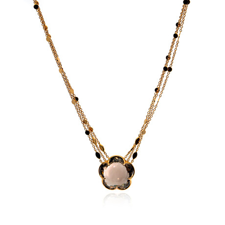 Pasquale Bruni Bon Ton 18k Rose Gold Diamond + Ruby Necklace II // Store Display