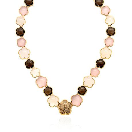 Pasquale Bruni Bon Ton 18k Rose Gold Diamond + Smoky Quartz Necklace // Store Display