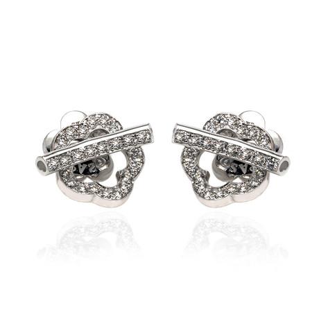 Pasquale Bruni Make Love 18k White Gold Diamond Earrings // Store Display