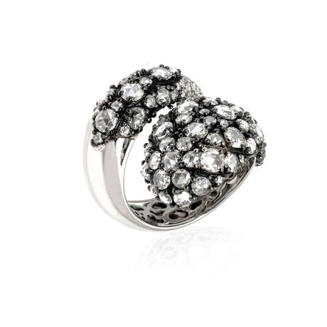Pasquale Bruni Pave 18k White Gold Diamond Ring // Ring Size: 6.5 // Store Display