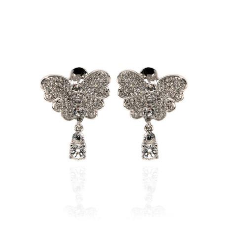 Pasquale Bruni Liberty 18k White Gold Diamond + White Topaz Earrings // Store Display