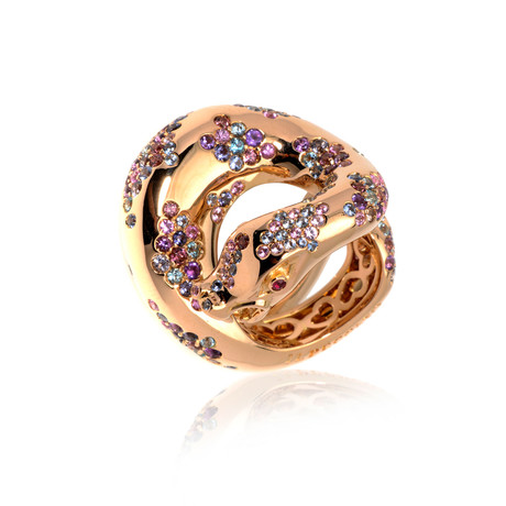 Pasquale Bruni Peccato 18k Rose Gold + Sapphire Ring // Store Display (Ring Size: 5.5)