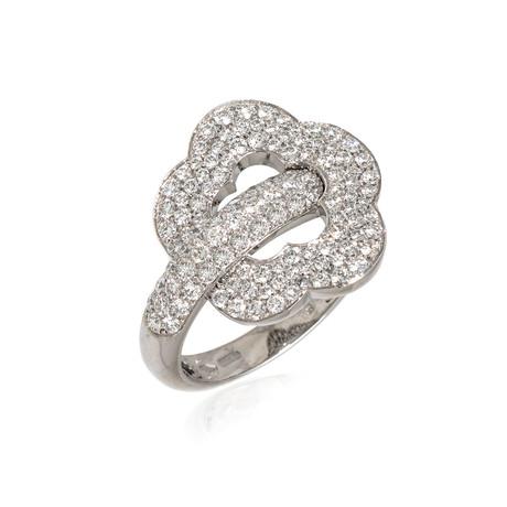 Pasquale Bruni Make Love 18k White Gold Diamond Ring // Ring Size: 6 // Store Display