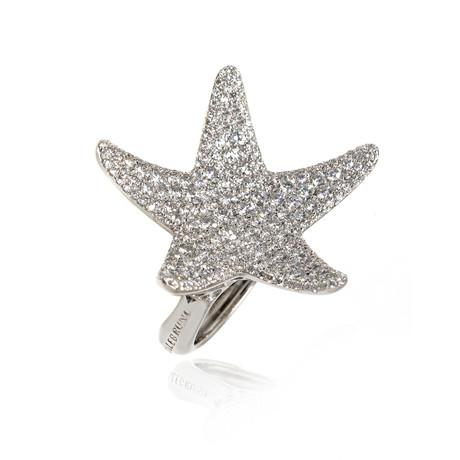 Pasquale Bruni Stella Nascente 18k White Gold Diamond Ring // Ring Size: 6 // Store Display