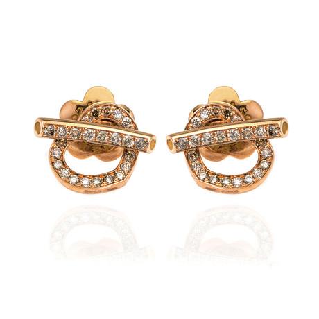 Pasquale Bruni Make Love 18k Rose Gold Diamond Earrings // Store Display