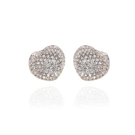 Pasquale Bruni In Love 18k White Gold Diamond Earrings // Store Display
