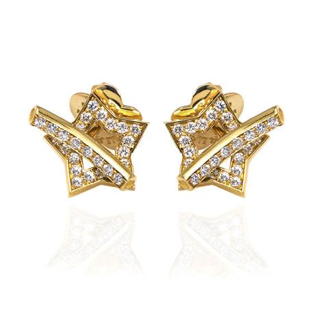 Pasquale Bruni Make Love 18k Yellow Gold Diamond Earrings // Store Display