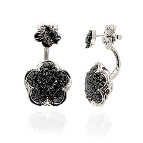 Pasquale Bruni Bon Ton 18k White Gold Diamond Earrings // Store Display
