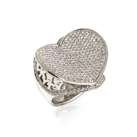 Pasquale Bruni Liberty 18k White Gold Diamond Ring // Ring Size: 7 // Store Display