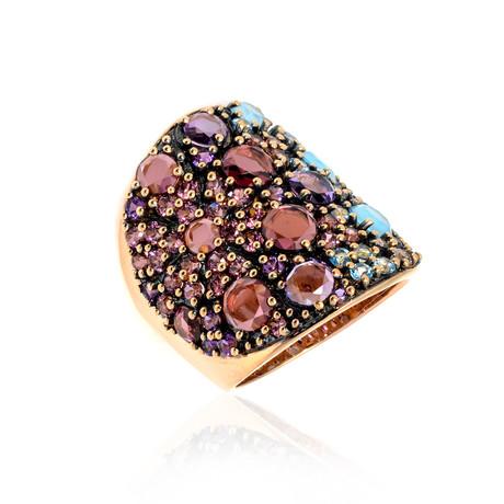 Pasquale Bruni Mandala 18k Rose Gold Amethyst Ring // Store Display (Ring Size: 6.25)