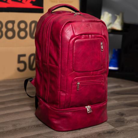Luxury Travel Bag // Tumbled Leather // Maroon