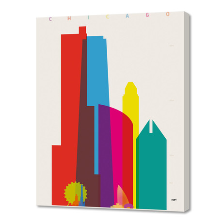 """Shapes of Chicago (16""""W x 24""""H x 1.5""""D)"""