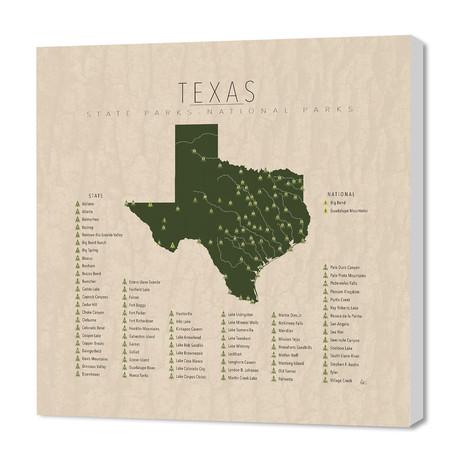 """Texas Parks (16""""W x 24""""H x 1.5""""D)"""