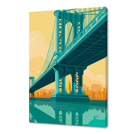 "Manhattan Bridge (16""W x 24""H x 1.5""D)"